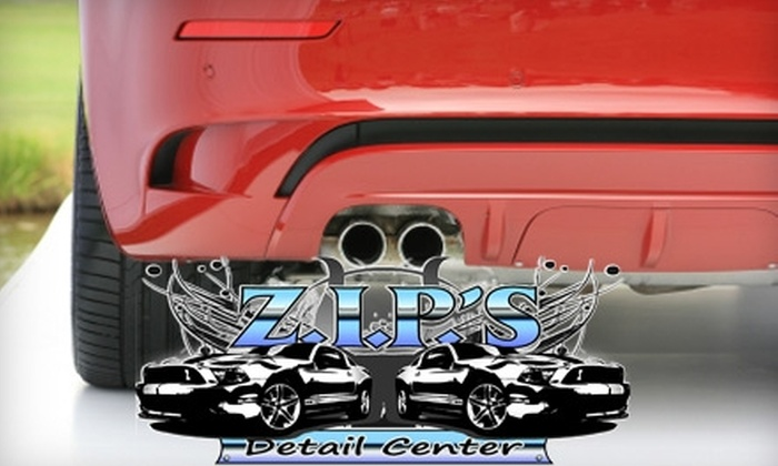 Z.I.P.'s Detail Center - Multiple Locations: Hand Car Wash, Wax, and Clear Door-Edge Guards from Z.I.P.'s Detail Center. Choose Between Two Options.