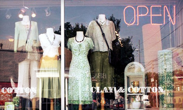 Clay & Cotton - Crescent Hill,Frankfort Ave,Cherokee Triangle: $20 for $40 Worth of Women's Apparel and Home Décor at Clay & Cotton