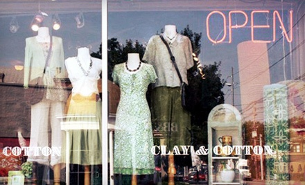 $40 Groupon to Clay & Cotton - Clay & Cotton in Louisville