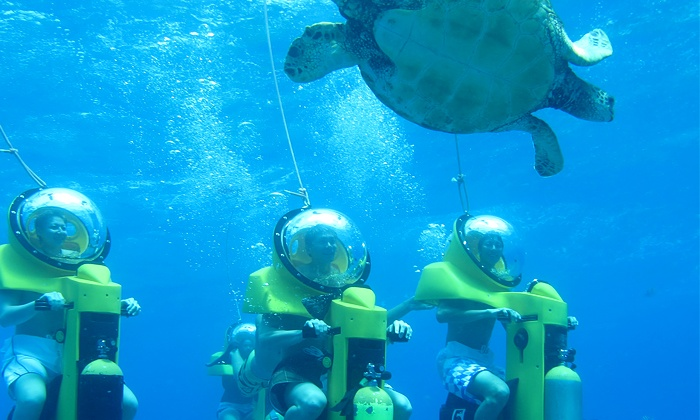 Island Water Sports Hawaii - Hawaii Kai: $109 for a Submarine-Scooter and Turtle-Watching Adventure from Island Water Sports Hawaii ($198 Value)