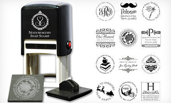 Personalized Self-Inking Stamper : $29 for an InvitationBox Self-Inking Stamper with a Personalized Stamp Face. Shipping Included ($57.94 Value).
