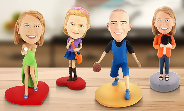 Single or Couple Customised Bobbleheads from AED 219 (Up to 51% Off)