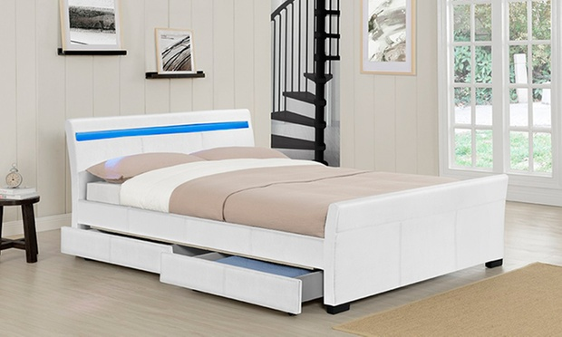 Venetian storage bed groupon goods for Beds groupon
