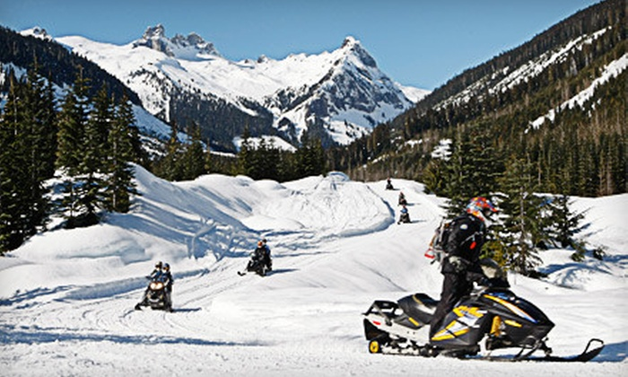 Blackcomb Snowmobile - Whistler: $133 for a Two-Hour Tandem Wilderness Adventure Tour from Blackcomb Snowmobile in Whistler ($266.56 Value)