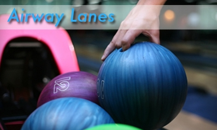 Airway Lanes - Waterford: $5 for Three Games of Bowling, Shoes, Bottomless Pitcher of Soda, and a Hotdog at Airway Lanes ($21.50 Value)