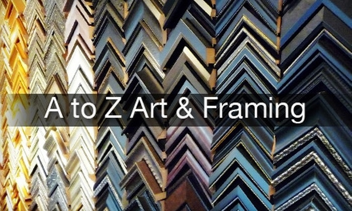 null - North Bethesda: $45 for $125 Worth of Custom Framing at A to Z Art & Framing in Rockville