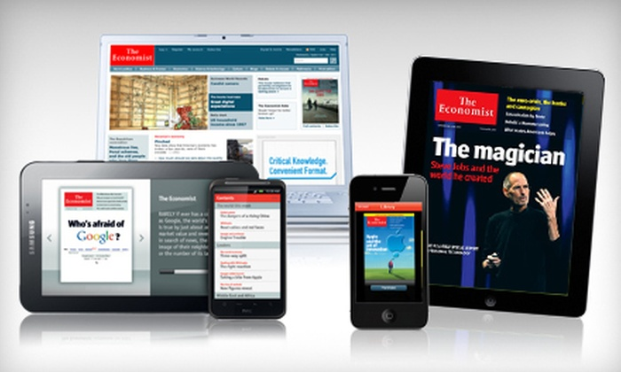 """The Economist"" - Coronado: $51 for 51-Issue Digital Subscription to ""The Economist"" ($126.99 Value)"