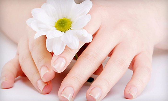 Plumberry Nail Spa - Cow Hollow: $49 for a Manicure Package for Two at Plumberry Nail Spa