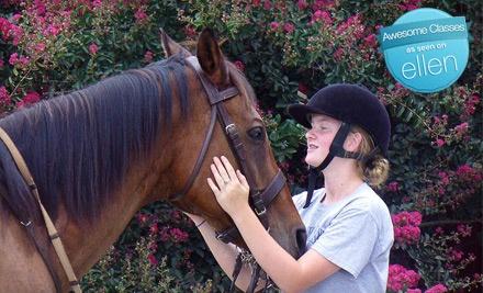 Child Beginner Horseback-Riding Lesson (a $40 Value) - Cherokee Hill Farm in Tryon