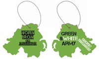 Five Northern Ireland-Shaped Car Air Fresheners from Norn Iron Airfresheners