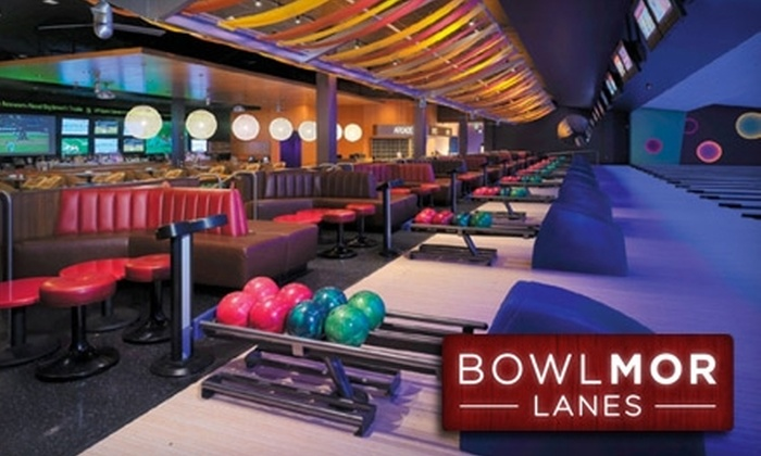 Bowlmor Lanes - Tustin: $34 for Two Hours of Bowling at Bowlmor Lanes Orange County for Up to Four People (Up to $79.90 Value)