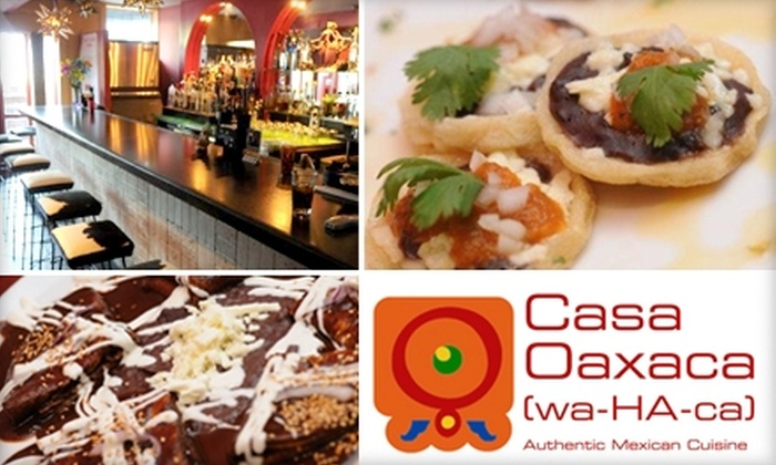 Casa Oaxaca - Adams Morgan: $15 for $35 Worth of Authentic Mexican Cuisine and Drinks at Casa Oaxaca