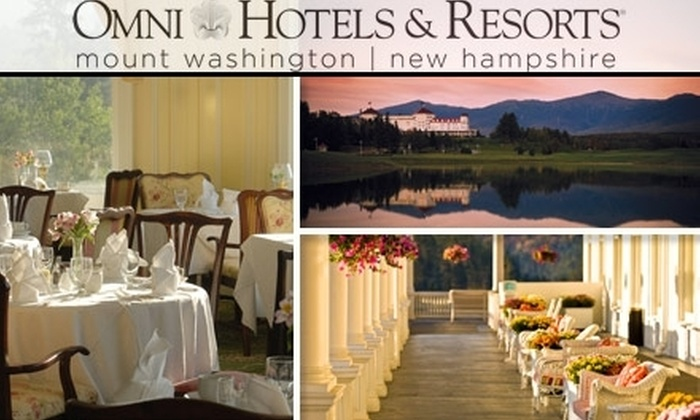 The Omni Mount Washington Resort - Carroll: $159 for a One-Night Stay and Breakfast for Two at the Omni Mount Washington Resort ($239 Value)