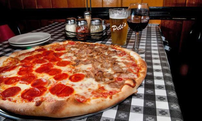 Pete's Tavern - Morristown: Italian Cuisine for Two or Four or More, Valid Saturday Through Thursday at Pete's Tavern (Up to 44% Off)