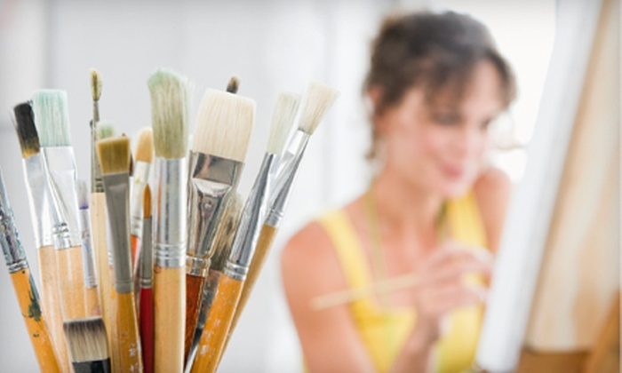CuraYoga - Houston: Canvas and Cabernet BYOB Painting Class for One or Two People at CuraYoga
