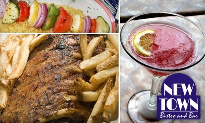 New Town Bistro & Wine Bar - South Peace Haven: $15 for $30 Worth of Bistro Fare and Drinks at New Town Bistro & Wine Bar