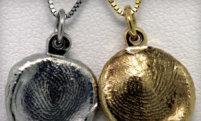 Darold's Jewelers & Diamond Importers - Meadowlane: Gold or Silver Thumbprint Pendant at Darold's Jewelers & Diamond Importers