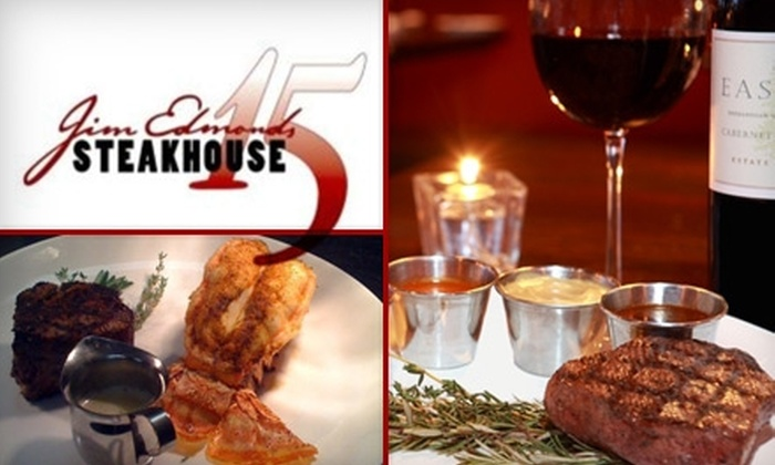 Jim Edmonds 15 Steakhouse - Downtown St. Louis: $18 for $40 worth of Fresh, Seasonal Cuisine and Drinks at Jim Edmonds 15 Steakhouse