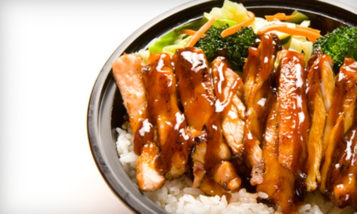 Teriyaki Madness - Multiple Locations: $10 for $20 Worth of Asian Cuisine and Drinks at Teriyaki Madness