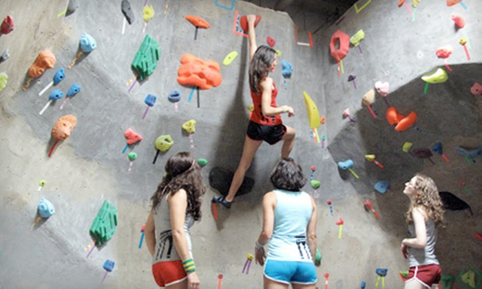 Brooklyn Boulders - Boerum Hill: Wall Climbing at Brooklyn Boulders. Four Options Available.