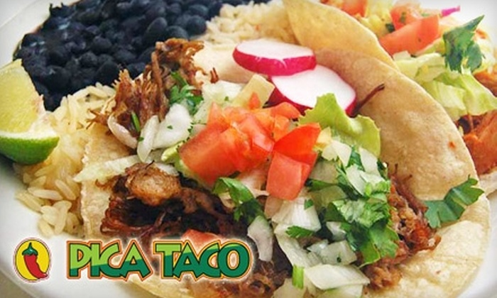 Pica Taco - Multiple Locations: $10 for $20 Worth of Mexican Fare and Drinks at Pica Taco