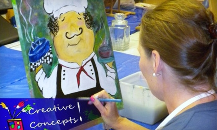 Creative Concepts! - Springfield: $17 for a Canvas and Cocktails Art Class at Creative Concepts! ($35 Value)
