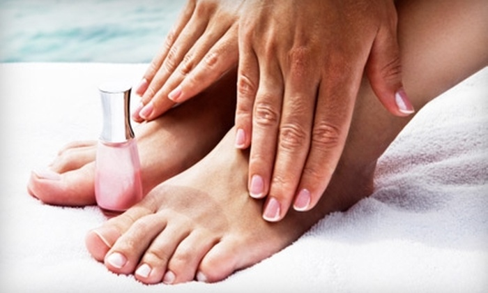 Mane St. Salon & Spa - Northwest Side: Nail, Massage, and Skin Services at Mane St. Salon & Spa. Three Options Available.