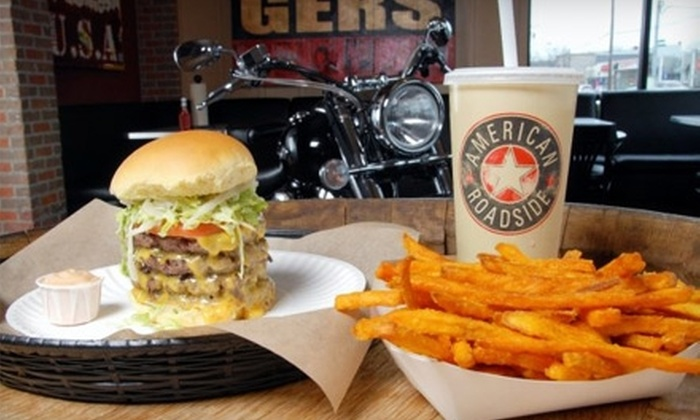 American Roadside Burgers - Smithtown: $6 for Two Burgers and Two Sides at American Roadside Burgers in Smithtown
