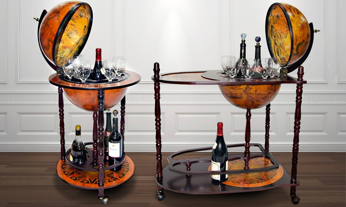 mueble bar con bola del mundo groupon goods