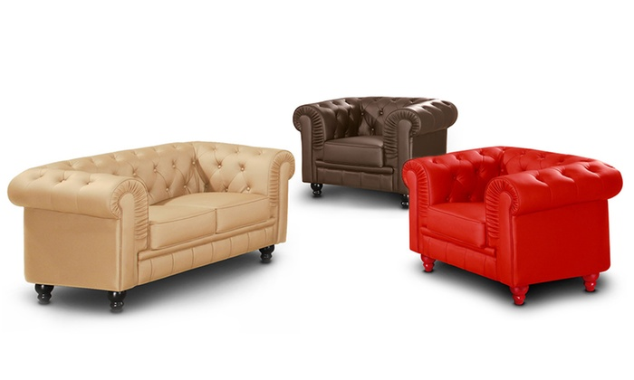 Fauteuil Ou Canapé Chesterfield Groupon Shopping
