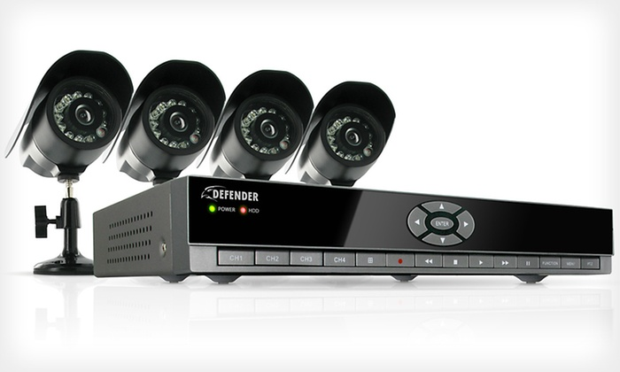 Defender 4-Channel DVR Security System: $249 for a Defender Four-Channel DVR Home Security System ($674.98 List Price). Free Shipping and Free Returns.