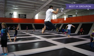 Elevation Trampoline Park - Edmond: 1-Hour Open Jump Sessions, or a Party for up to 12 at Elevation Trampoline Park - Edmond (Up to 45% Off)