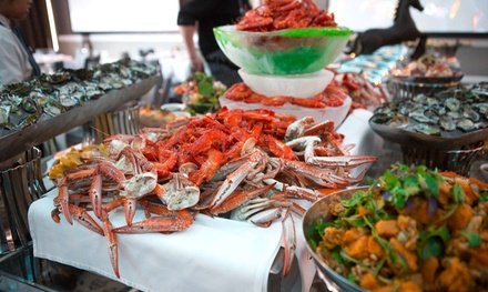AYCE Seafood Buffet + Wine $39.90, 4 $159.60 or 6 People $239.40 at Norton's Seafood Buffet Up to $453 Val