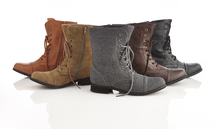 Carrini Combat Boots: $29.99 for Carrini Women's Combat Boots ($79 List Price). Multiple Styles Available. Free Shipping and Returns.