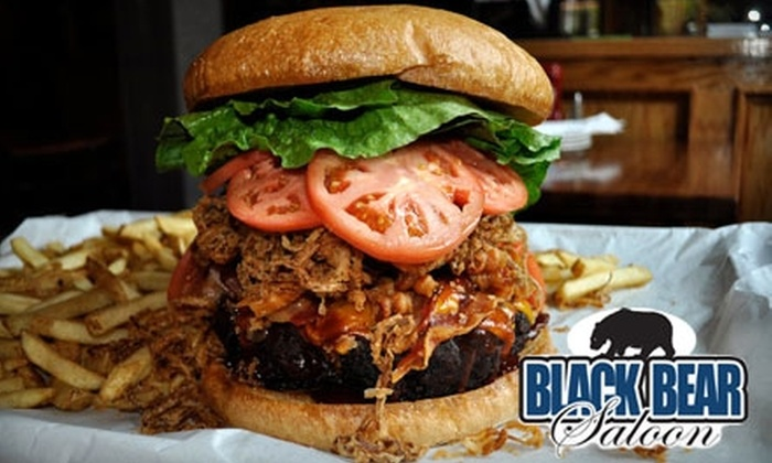 Black Bear Saloon - Downtown: $15 for $35 Worth of American Dinner Fare and Drinks at Black Bear Saloon (or $10 for $20 Worth of Lunch)