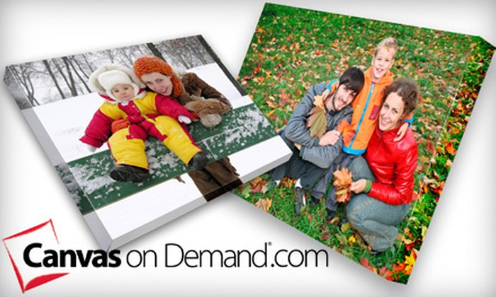"""Custom Gallery-Wrapped Canvas: $45 for a 16""""x20"""" Custom Gallery-Wrapped Canvas from Canvas on Demand ($126.95 Value). Shipping Included."""