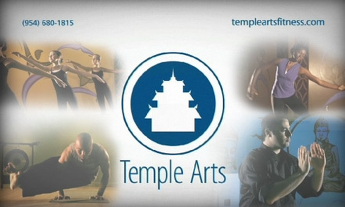 Temple Arts Fitness - Davie: $50 for 10 Dance, Fitness, or Martial-Arts Classes at Temple Arts Fitness (Up to $150 Value)