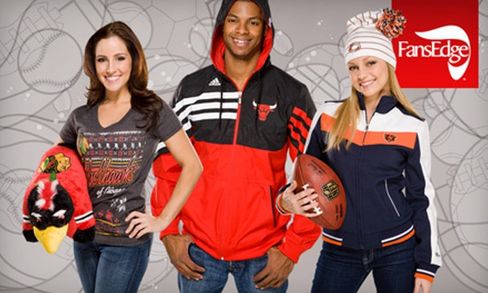 FansEdge - Multiple Locations: $20 for $40 Worth of Sports Jerseys, Hats, Apparel, and Memorabilia at FansEdge