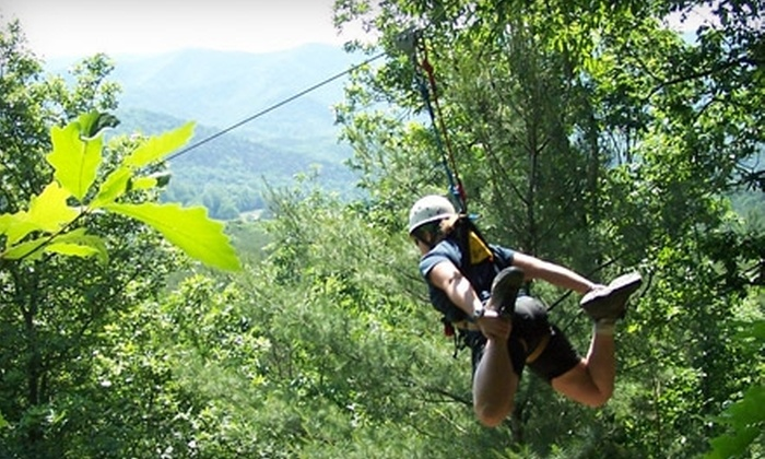 Wilderness Adventure at Eagle Landing - Potts Mountain: $20 for a Zip-Line and Wall-Climbing Package at Wilderness Adventure at Eagle Landing ($40 Value)
