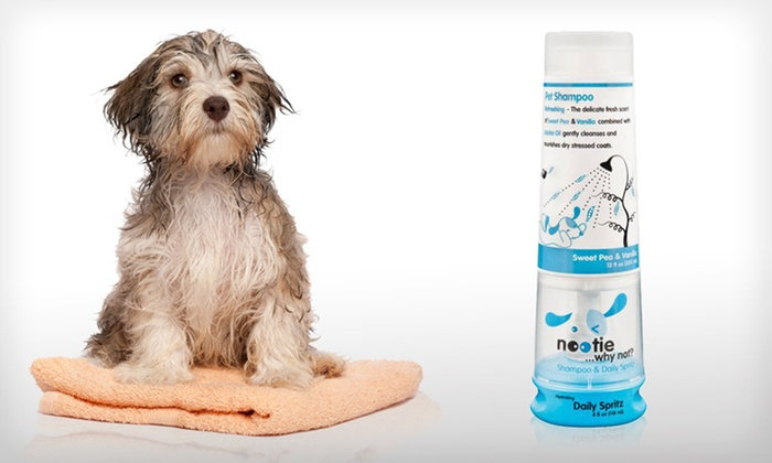 Nootie Pet Shampoo and Daily Spritz: $9 for a Nootie Sweet Pea and Vanilla Pet Shampoo and Daily Spritz Combo Pack ($19.99 List Price)