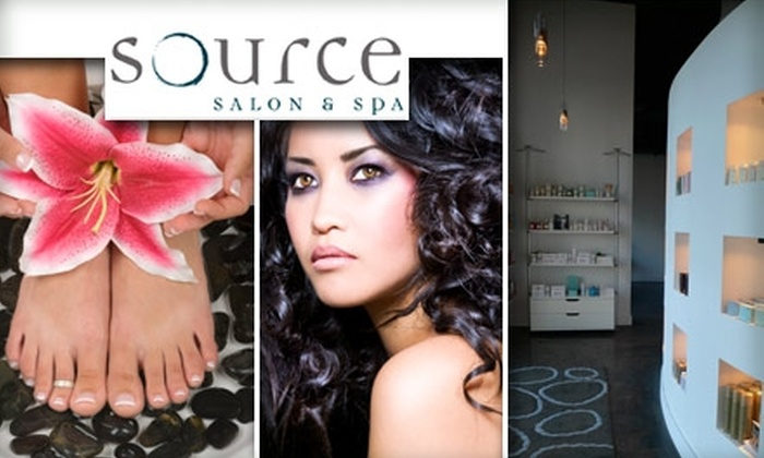 Source Salon & Spa - Adams: $50 for $100 Worth of Mani-Pedis, Facials, Body Wraps, Waxings, and More at Source Salon & Spa