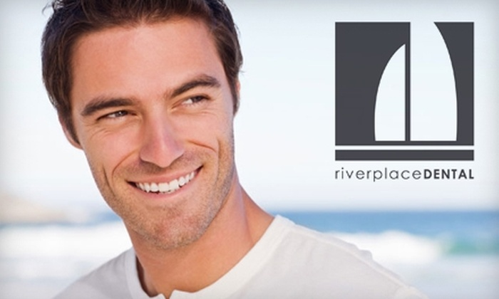 Riverplace Dental - Monona: $50 for Custom Take-Home Whitening Trays, Bleach, and X-Rays from Riverplace Dental ($200 Value)