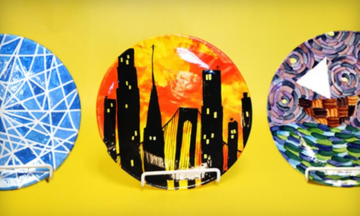 All in the Kiln - Downtown Walnut Creek: Ceramic-Painting or Glass-Fusion Experience for Two at All in the Kiln in Walnut Creek (Up to Half Off)