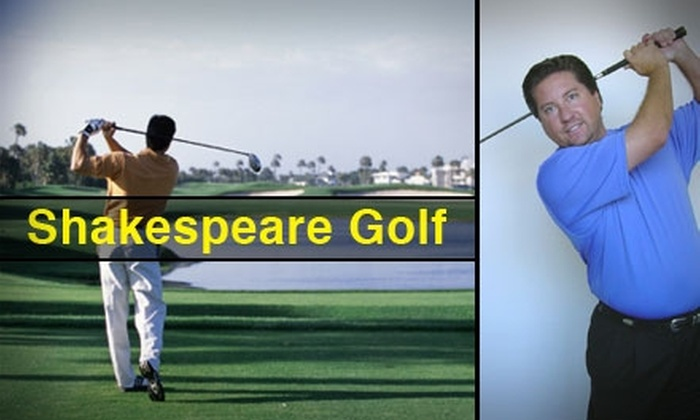 Shakespeare Golf - Northeast Jefferson: $59 for One 40-Minute Private Golf Lesson from Shakespeare Golf ($125 Value)