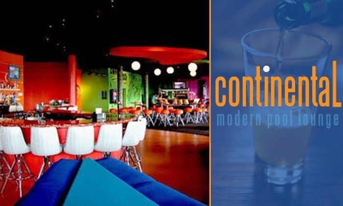 Continental Modern Pool Lounge - North Rosslyn: $10 for $25 of Dining at Continental Modern Pool Lounge