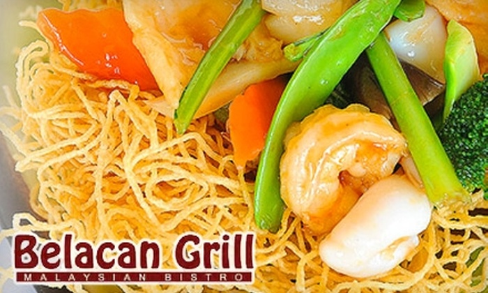 Belacan Grill - Tustin: $20 for $40 Worth of Authentic Malaysian Fare and Drinks at Belacan Grill in Tustin