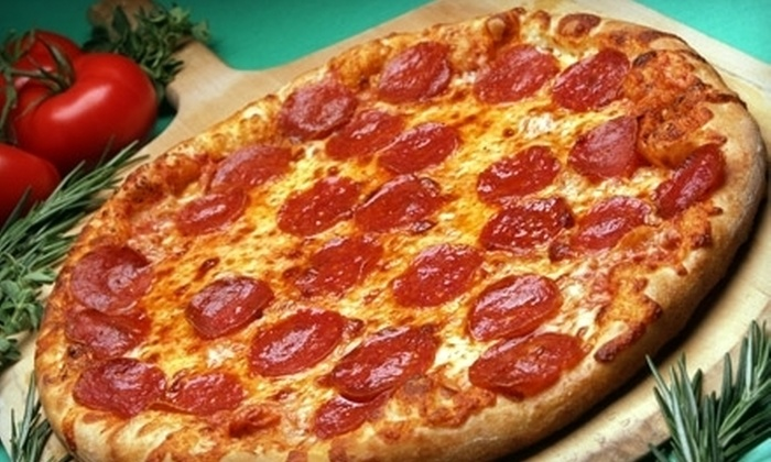 """Potomac Pizza - Multiple Locations: $9 for a Large 16"""" One-Topping Pizza at Potomac Pizza (Up to $17.98 Value)"""