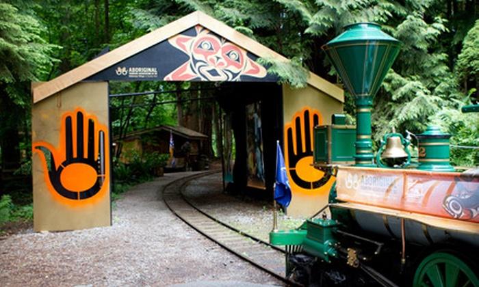 Klahowya Village in Stanley Park - Stanley Park: Spirit Catcher Train Ride at Klahowya Village. Three Options Available.