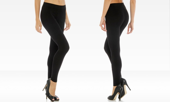 Icon Apparel Black Seamless Leggings: $11.99 for Icon Apparel Black Seamless Leggings in Small/Medium or Medium/Large ($35 List Price). Free Returns.