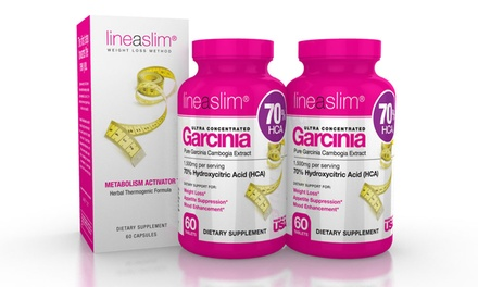 60 Servings of Lineaslim Garcinia with Free 60-Serving Metabolism Activator